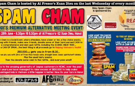 Spamcham - Monthly fundraising event for disadvantaged youth in Vietnam