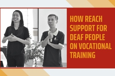 Training need assessment of deaf people