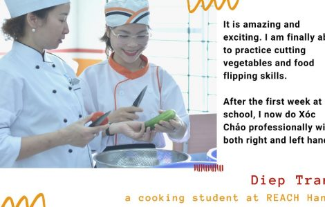 Diep Tran - a cooking student
