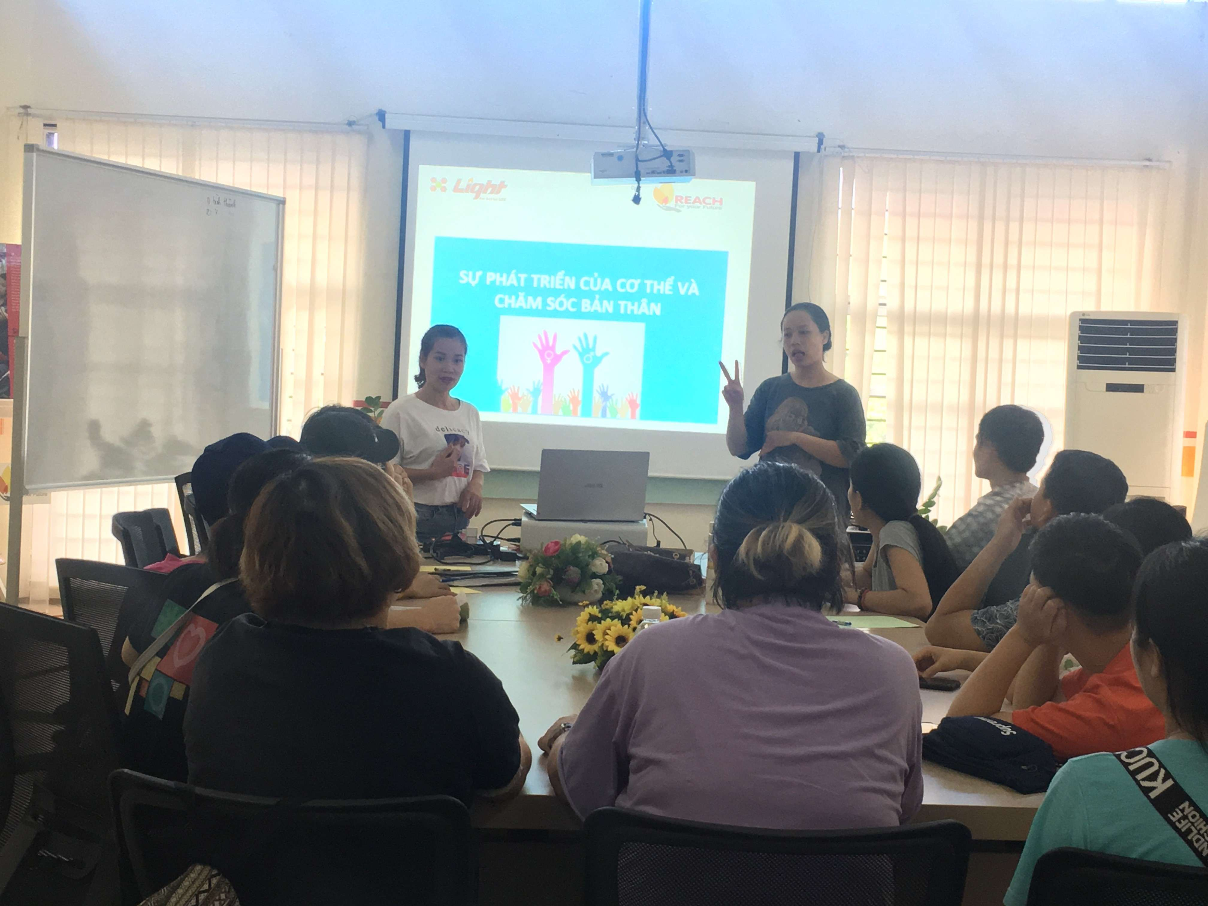 Deaf students participate in reproductive health training