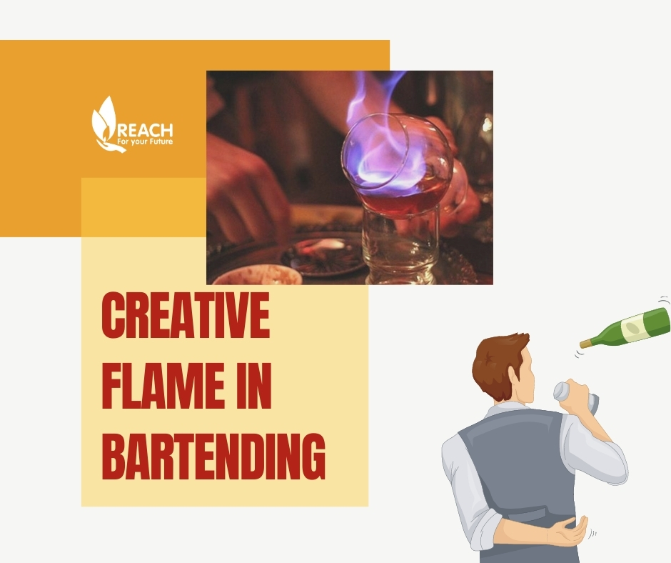 Creative Flame In Bartending