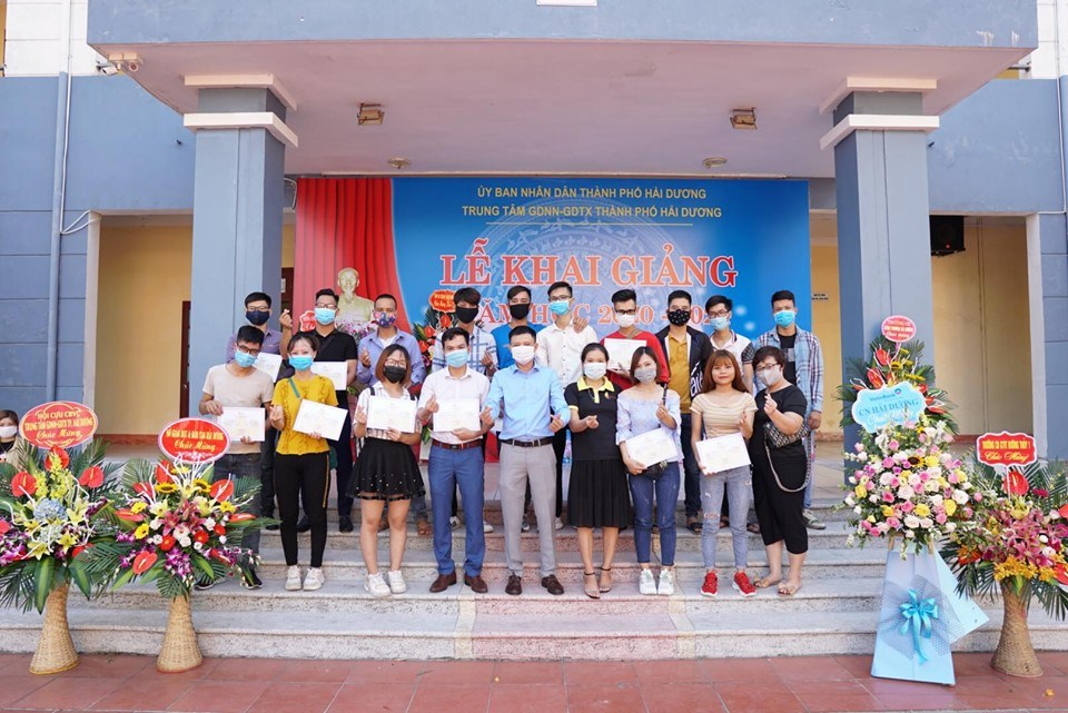 Post-opening ceremony at REACH Hai Duong with partners