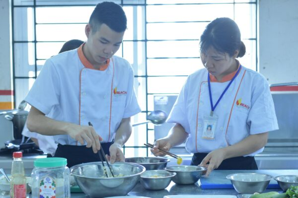 REACH Cooking students take the final exam