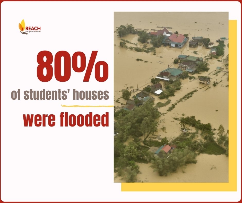 80 percent of students houses were flooded