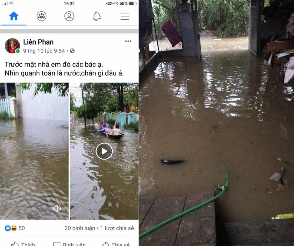 Some pictures of REACH students' families facing floods and storms in Central Vietnam (5)