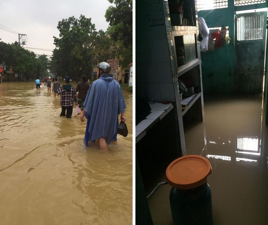 Some pictures of REACH students' families facing floods and storms in Central Vietnam (6)