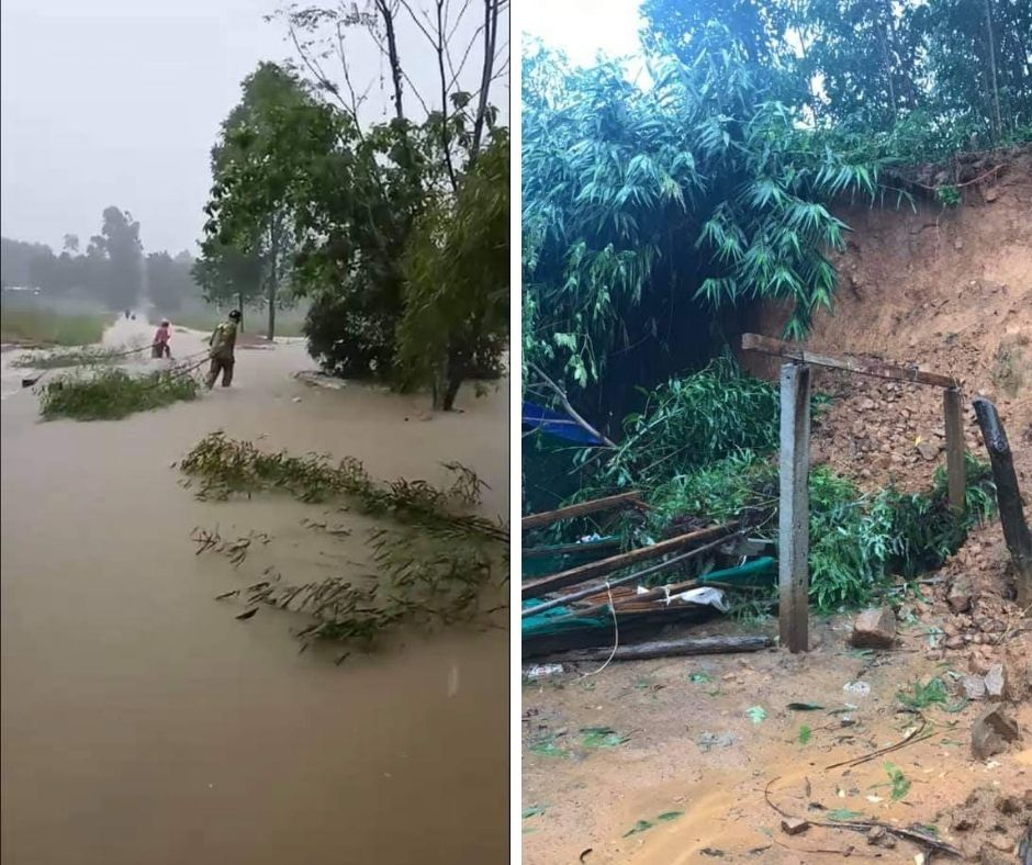 Some pictures of REACH students' families facing floods and storms in Central Vietnam (7)