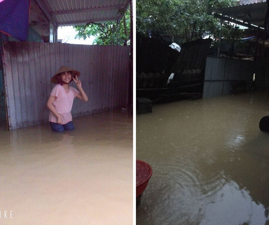 Some pictures of REACH students' families facing floods and storms in Central Vietnam (8)