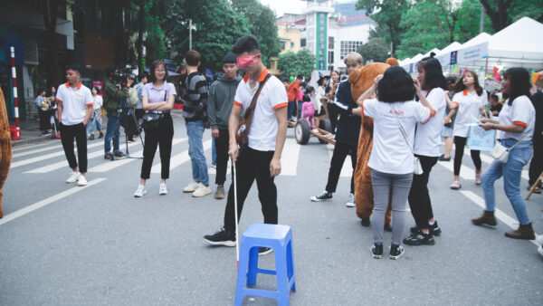 Former STEP UP trainees held a game at REACH booth