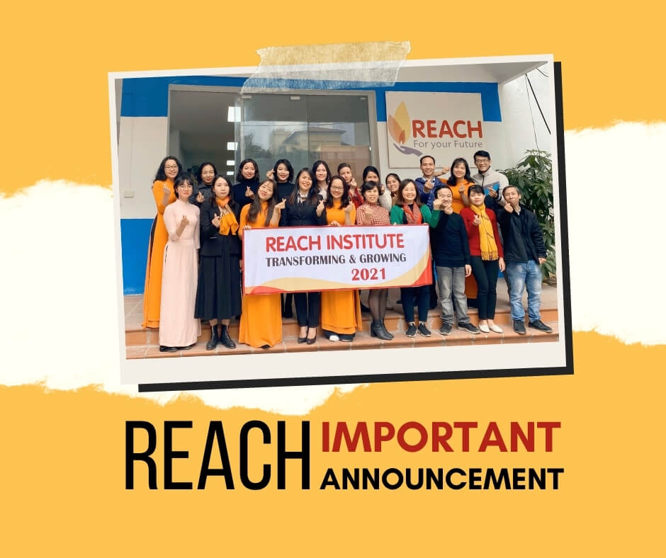 REACH important announcement